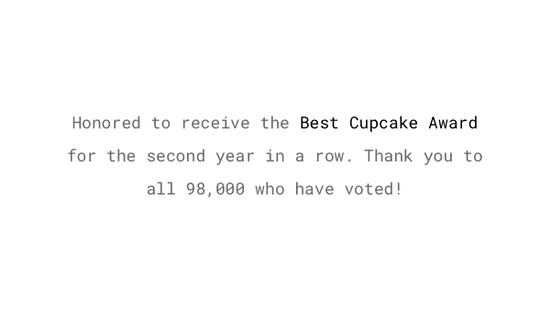 Social Proof Example: Thank publicly for received awards